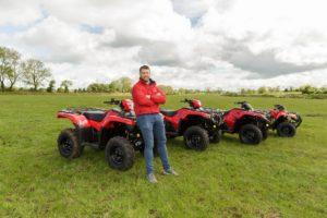 Sean O'Brien with Honda Quads