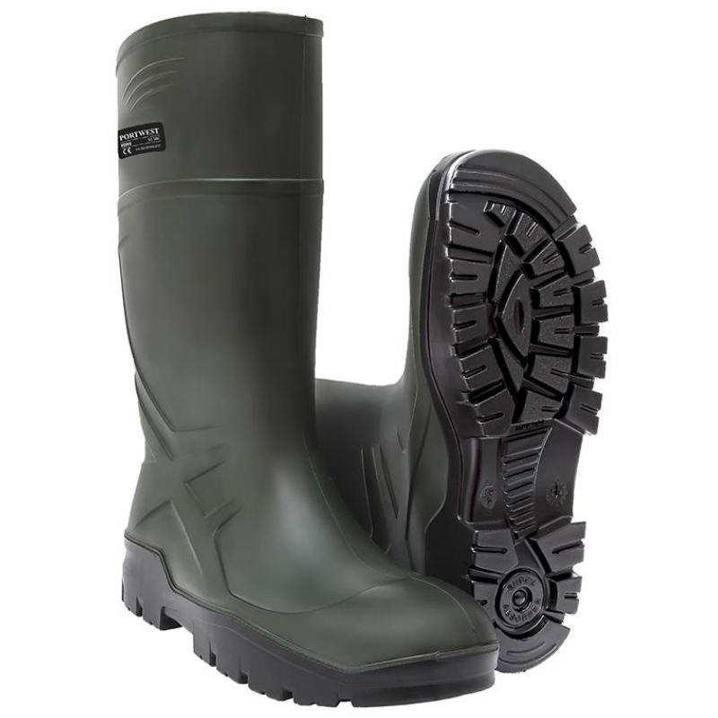 Schux Green PU Wellingtons
